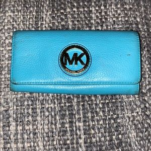Michael Kors teal color wallet